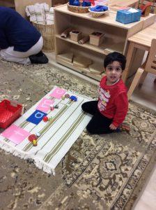 Primary Word Fun at Villa Montessori Preschool in Polaris